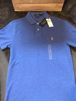 Ralph Lauren 🇺🇸 Polo 🐎 Blue Pique Shirt Sz M for Sale in Dallas,  TX