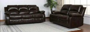 CLOSEOUTS LIQUIDATIONS SALE BRAND NEW RECLINERS COMFORTABLE SOFA AND LOVESEAT ALL NEW FURNITURE G U A45N for Sale in Pomona, CA