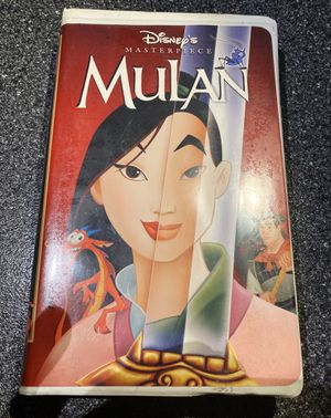 Mulan original vhs with case art and case Disney. Used for Sale in Queens, NY
