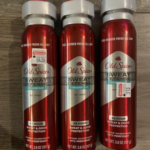 Old spice sweat defense pure sport plus dryspray $3.50 each for Sale in San Bernardino, CA