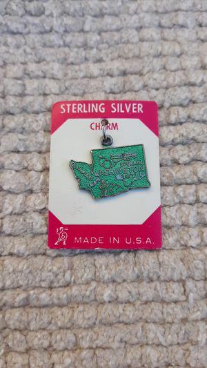 Washington State Vintage Sterling Silver Charm for Sale in Chandler, AZ