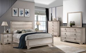 4 pc bedroom set queen FREE LOCAL DELIVERY for Sale in Fontana, CA