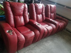 Palliser theater recling seating couch for Sale in Raleigh, NC