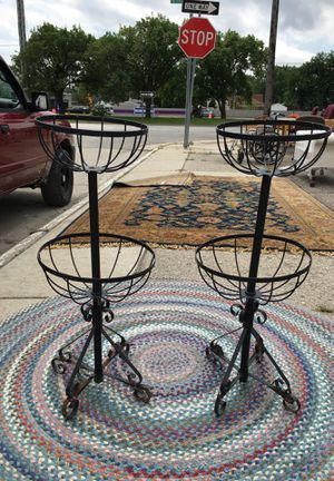 Cool vintage flower pots - perfect for patio garden for Sale in Grosse Pointe Park, MI
