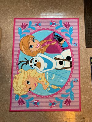 Disney Frozen Elsa Anna Olaf Area Rug Like New! for Sale in Lemont, IL