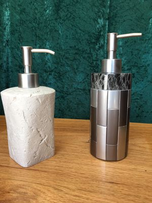 TWO Nice Soap Dispensers — one is new. for Sale in Dexter, ME