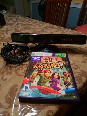 Xbox 360 Kinect sensor with Kinect adventures game for Sale in Washington, DC