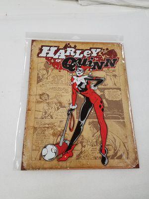 DC comics superhero villian Harley quinn metal sign for Sale in Vancouver, WA