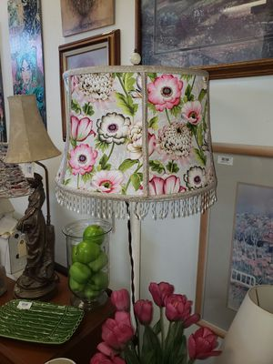 Torchere lamp and custom shade for Sale in Camas, WA