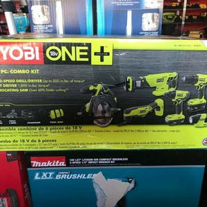 RYOBI 18V CORDLESS COMBO KIT 6PC WITH 2 BATTERIES AND CHARGER for Sale in Turlock, CA