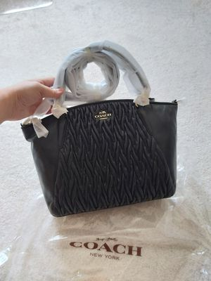 New Coach gethered leather small kelsey bag purse Black for Sale in Alpharetta, GA