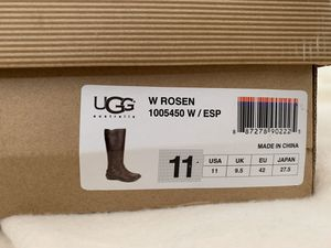 UGG ROSEN TALL ESPRESSO BROWN LEATHER-BRAND NEW —size 11-- $175 for Sale in Fremont, CA