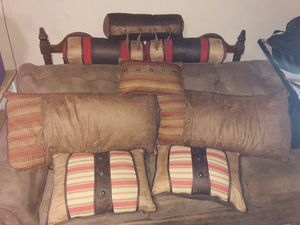 Leather pillow set for Sale in New Braunfels, TX