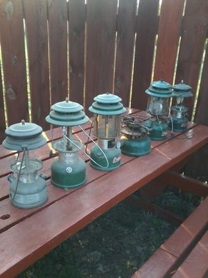 Vintage coleman lanterns, made in wichita,ks, for Sale in Hutchinson, KS