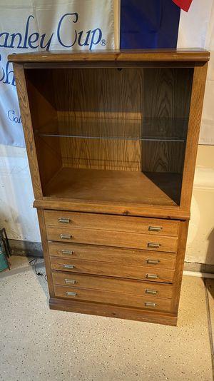 Vintage Dresser and Lighted Cabinet - Drexel Heritage Furniture for Sale in Littleton, CO