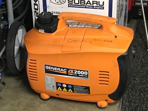 Generac 2000 W inverter generator ( smokes )
