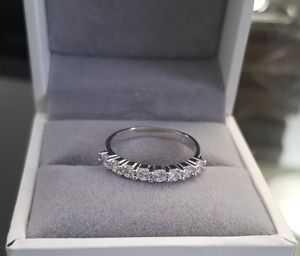 S925 Sterling Silver VVS1 Lab Diamond Wedding Band Ring Size 6,7 for Sale in Aspen Hill, MD
