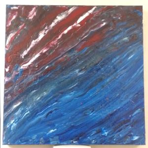 """Acrylic painting stretch canvas 24"""" x 24"""" for Sale in Webster Groves, MO"""