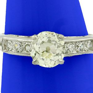 U3609 DIAMOND ENGAGEMENT RING 1.18CT LADIES WEDDING BAND 18K GOLD for Sale in Los Angeles, CA