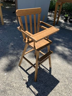 Wooden high chair for Sale in Walnut Creek, CA