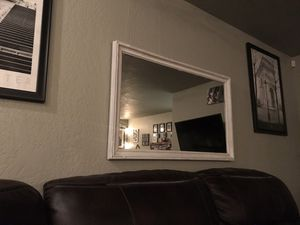 Vintage White Washed Mirror for Sale in Waterford, CA