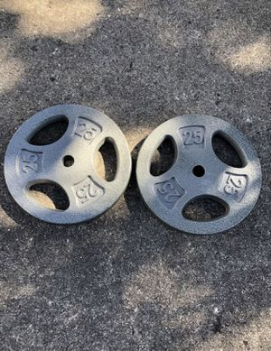 Brand New 25lb weight plates set of 2 for Sale in West Chicago, IL
