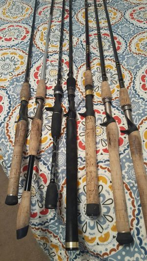 Baitcasting fishing rods (no reels) for Sale in Richfield, OH