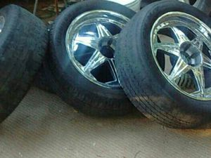 Rim and tire set 22s for Sale in Chapel Hill, NC