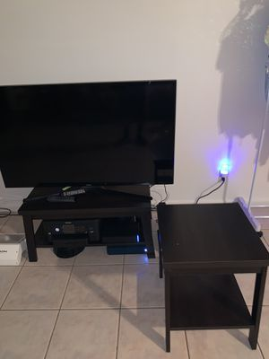 Black Coffee table and black side table for Sale in West Park, FL