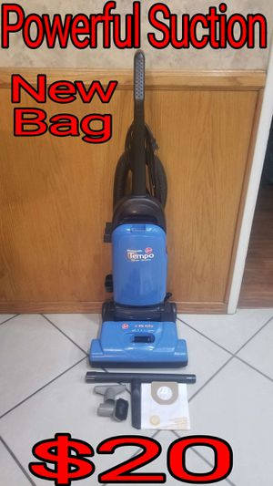 Hoover Vacuum, Strong Suction, New Bag, Clean. for Sale in Bloomington, CA