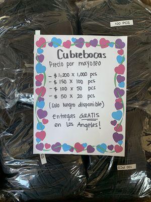 Cubreboca Mayoreo for Sale in Los Angeles, CA