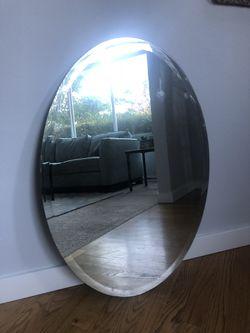 Frameless oval bathroom mirror for Sale in Mill Creek,  WA
