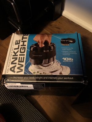 Adjustable ankle weights 10 lbs for Sale in San Francisco, CA