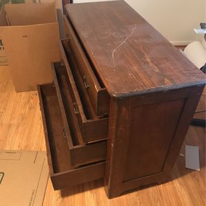 "Antique Solid Wood 4 Drawer Dresser 33"" Tall 41"" Wide 17 "" Deep for Sale in Houston, TX"