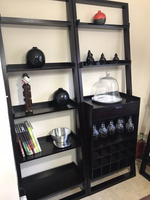 Crate&Barrel shelves w/ wine storage for Sale in Durham, NC