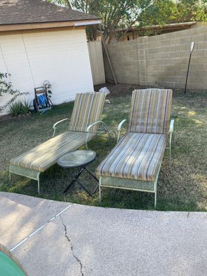 Patio pool chair set 2 like new for Sale in Glendale, AZ