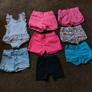 Baby Girl shorts & bathing suit for Sale in Riverside, CA