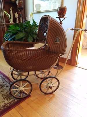 Antique wicker doll carriage for Sale in Wakefield, MA