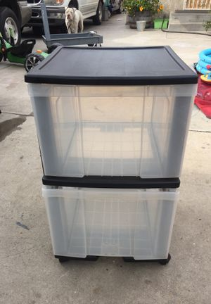 2 big drawer storage container for Sale in Los Angeles, CA