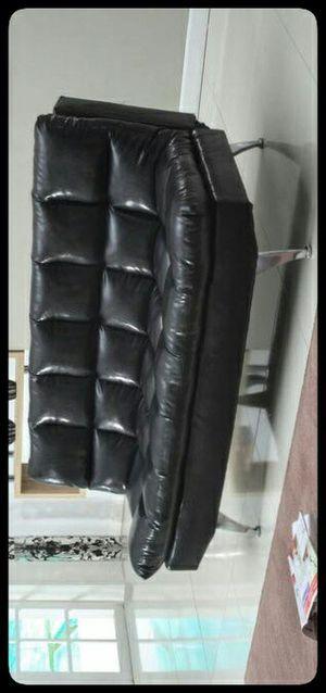 🚩SOFA🚩 RAMO BLACK PU / MICROFIBER ADJUSTABLE SOFA BED for Sale in Hyattsville, MD