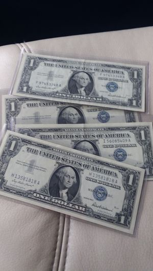 4 one Dollar silver certificates for Sale in Henderson, NV