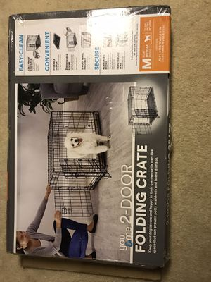 You & Me 2-Door Medium Folding Dog Crate for Sale in Seattle, WA