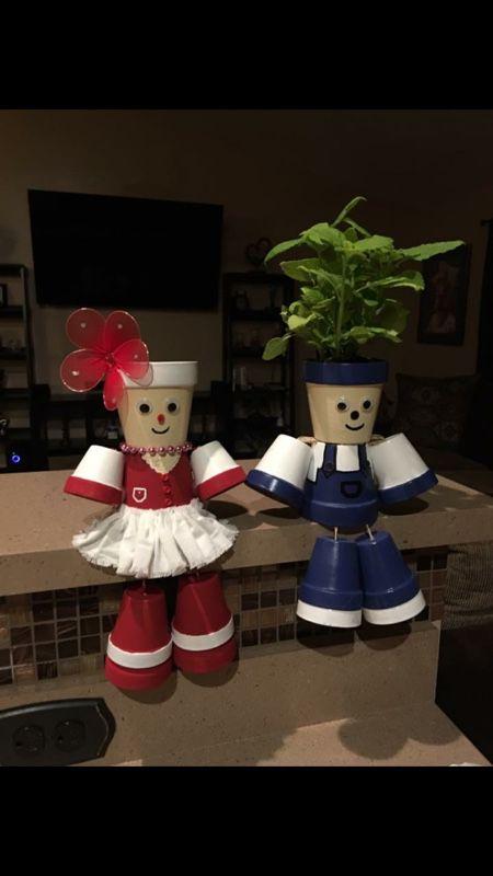 Garden plants dolls