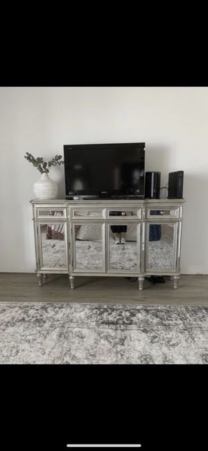 Mirrored Buffett Table or Entertainment Console for Sale in Scottsdale, AZ