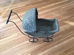 Antique child baby stroller for a doll. for Sale in Miami, FL