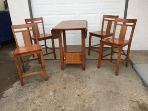 Bar-Height 5-Piece Dining Set with Dropleaf for Sale in Fresno, CA