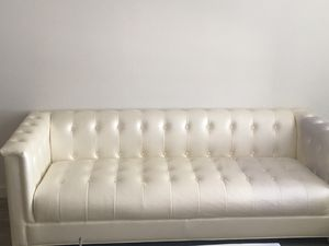 3 seat and 2 loveseat white couches for Sale in Miami, FL