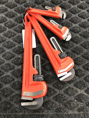 RIDGID 4pc Pipe Wrench Set for Sale in Humble, TX