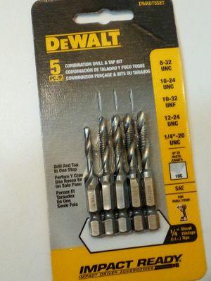 5 pc combination drill and tap Bits (New) for Sale in Everett, WA
