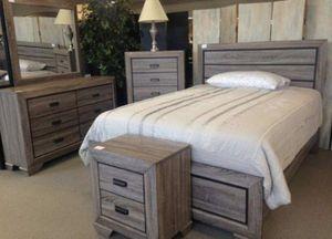 (BRAND NEW) 5-PC Queen Rustic Grey Bedroom Set for Sale in Houston, TX